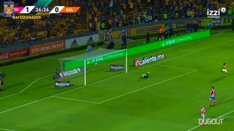 Golazo de Javier Aquino ante Atlético San Luis en 2018. DUGOUT