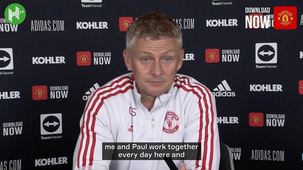 Solskjaer spoke about Pogba at a press conference. DUGOUT