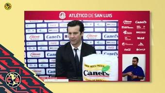 Solari valoró la victoria ante Atlético San Luis. Captura/DUGOUT