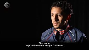 Marquinhos fala sobre seu 'lado francês' e brinca sobre ensinar língua a Neymar.