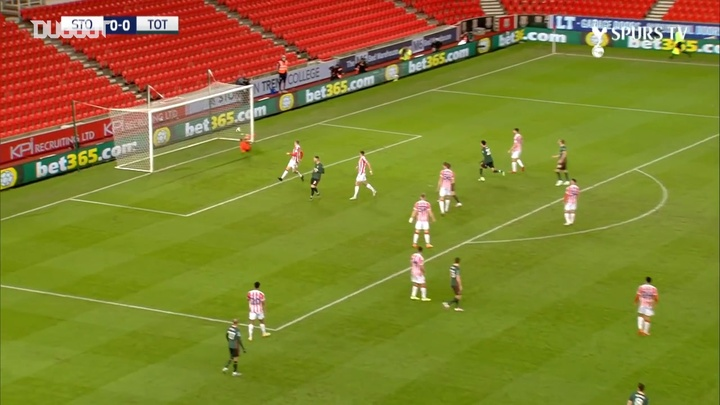 Gareth Bale was on target against Stoke in the Caraboa Cup earlier this season. DUGOUT