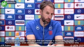 Técnico da Inglaterra exalta evolução do Grealish no Manchester City. DUGOUT