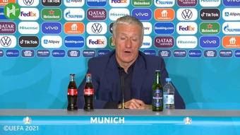 Deschamps commenta la vittoria. Dugout