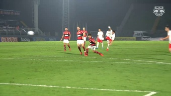 Veja o golaço de Artur no empate do Bragantino com o Flamengo. DUGOUT