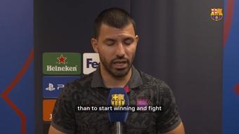 Aguero speaks ahead of CL clash. DUGOUT