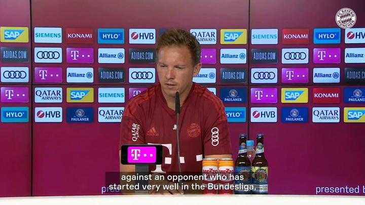 Nagelsmann previews Bayern's Super Cup final. DUGOUT
