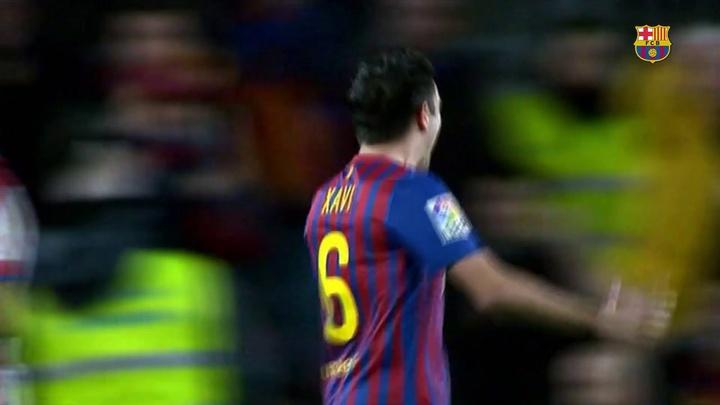 Assista aos três gols mais bonitos de Xavi contra o Granada. DUGOUT