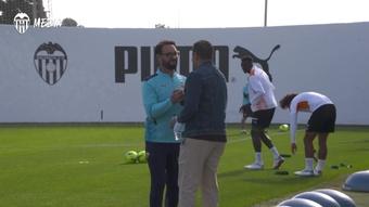 El Valencia ya piensa en el Sevilla. Captura/Dugout