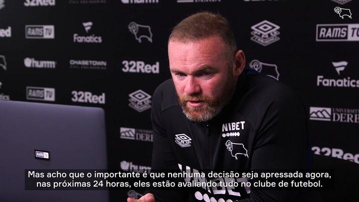 Rooney se pronuncia após punição e problemas de gestão no Derby County.
