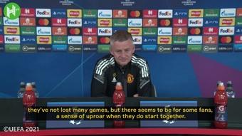 Ole Gunnar Solskjaer has spoken ahead of Man Utd's game with Villarreal. DUGOUT