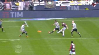 Il Bologna vince contro l'Udinese con il gol di Destro. Dugout