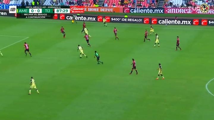 Así fue el gol de Córdova a Tijuana. DUGOUT
