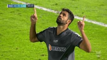 Le premier but de Diego Costa à l'Atlético Mineiro. Dugout