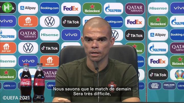 Pepe : Nous ne comptons que sur nous-mêmes. dugout