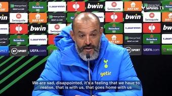 Nuno Espirito Santo spoke ahead of Tottenham's game with Mura. DUGOUT