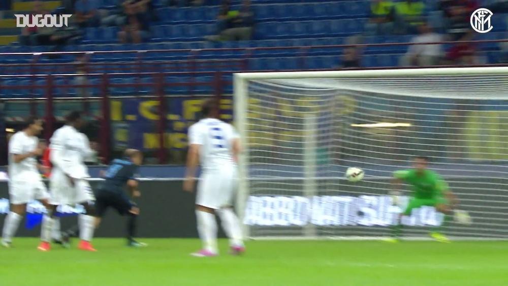 Il formidabile gol in bicicletta di Osvaldo contro la Dea. Dugout