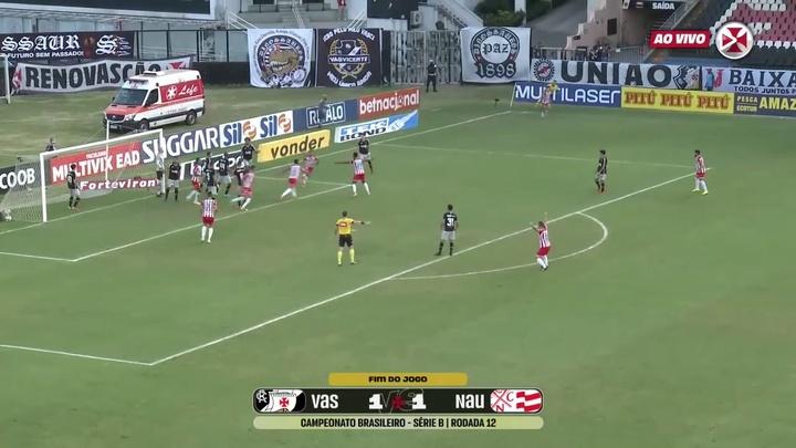 Vasco drew 1-1 versus Nautico at Sao Januario. DUGOUT