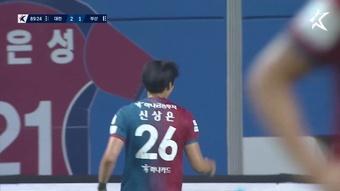 Shin Sang-Eun's skillful finish against Busan. DUGOUT