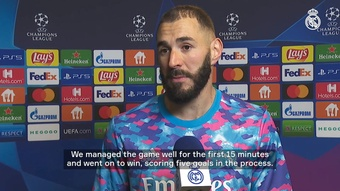 Karim Benzema was superb in the 0-5 victory in Kiev. DUGOUT