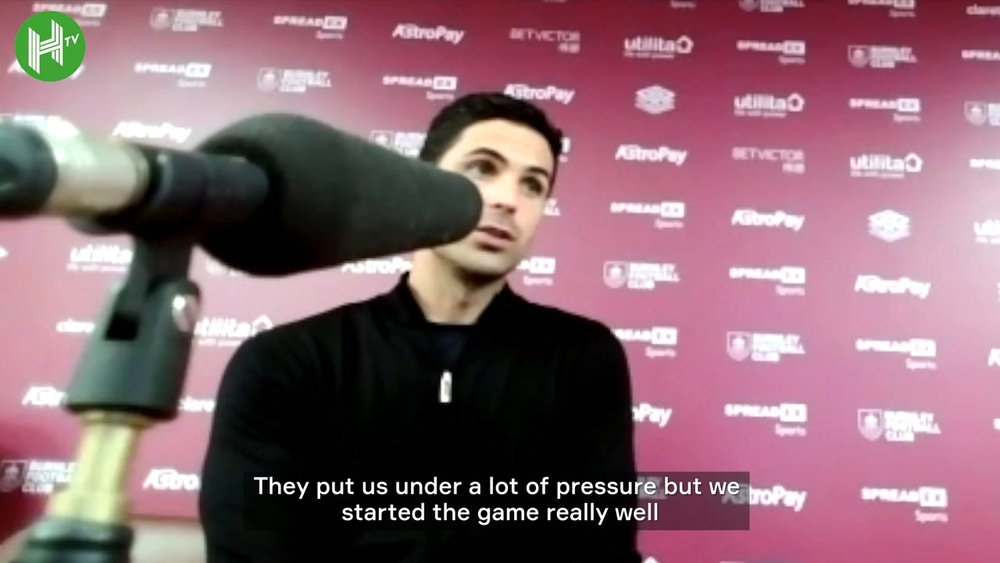 Arteta talks about a hard fought win against Burnley. DUGOUT