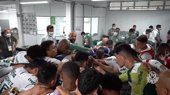 Bastidores da vitória do Palmeiras sobre a Chapecoense. DUGOUT