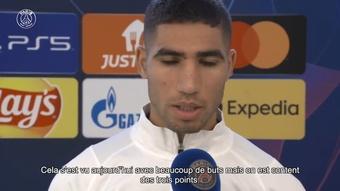Hakimi: Un vrai match de Ligue des Champions. dugout