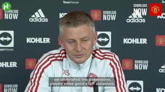 Ole Gunnar Solskjaer held a pre-match press conference before the clash with Everton. DUGOUT