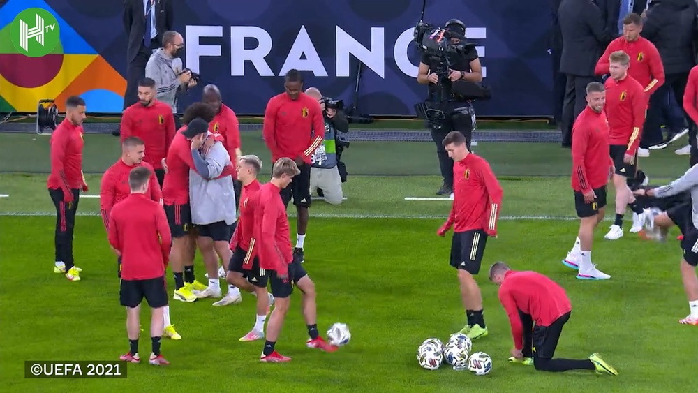 Belgium have been preparing for the match-up with France. DUGOUT