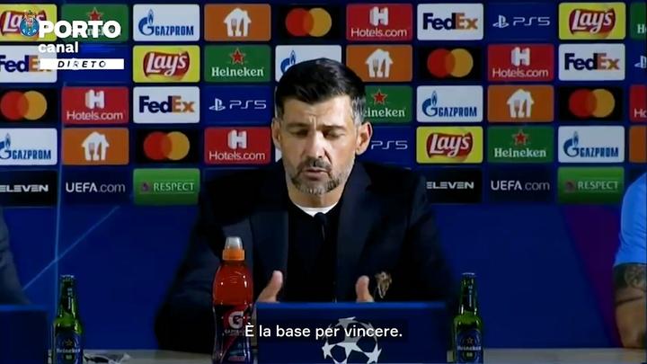 Conceição elogia il Milan. Dugout