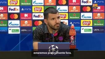 Agüero fala sobre obrigação de vitória do Barça sobre o Dínamo de Kiev. DUGOUT