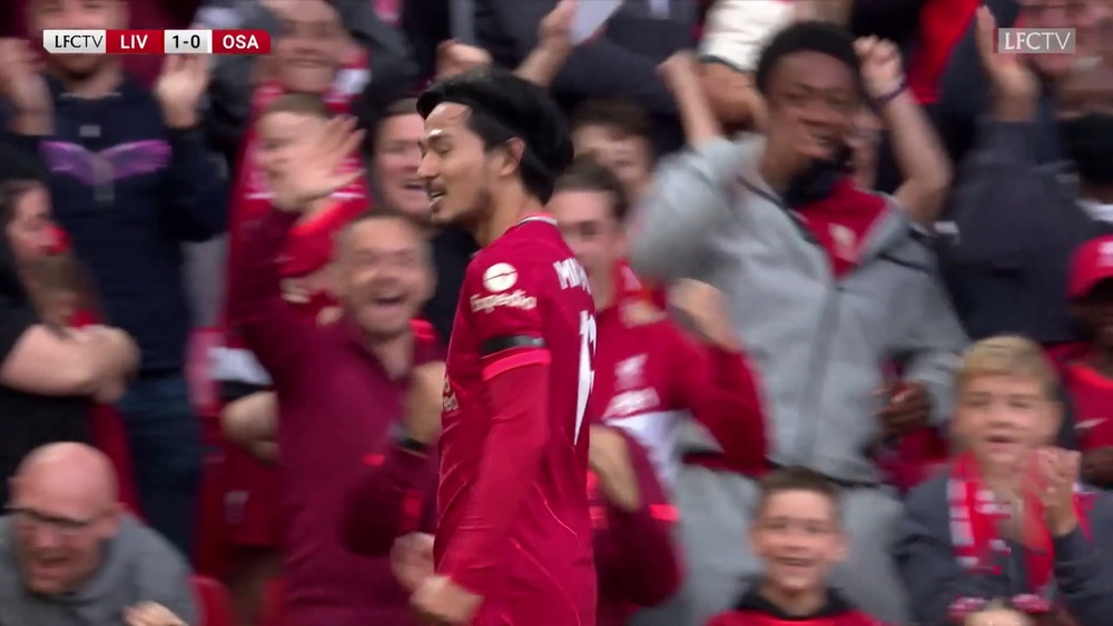 Les buts de Minamino en pré-saison avec Liverpool. Dugout