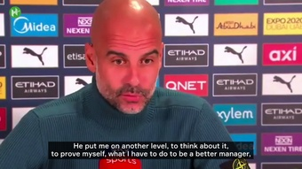 Pep Guardiola spoke ahead of Man City's blockbuster clash with Liverpool. DUGOUT