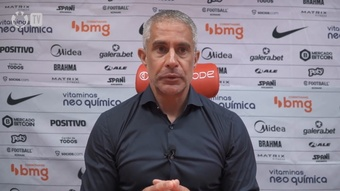 Sylvinho analisa empate do Corinthians.