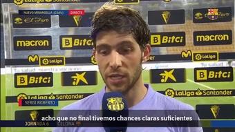 Sergi Robero lamentou o novo empate.