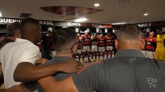 Bastidores da vitória do Flamengo por 3 a 0 sobre o Athletico-PR. DUGOUT
