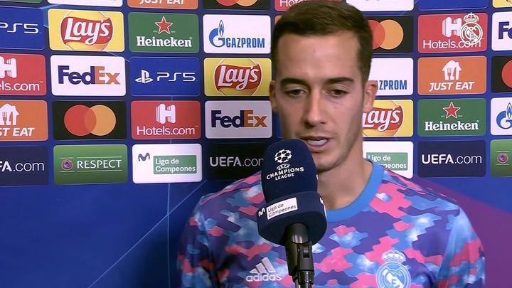 Lucas Vázquez admitió la superioridad del rival en la primera mitad. Captura/DUGOUT