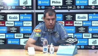 Técnico do Santos falou após derrota por 2 a 0 para o América-MG. DUGOUT