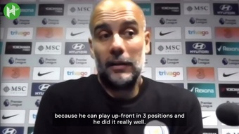 Guardiola speaks on City's 1-0 win v Chelsea. DUGOUT