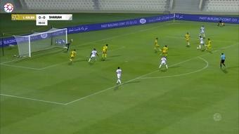 Sharjah defeated Ittihad Kalba in a UAE league game. DUGOUT
