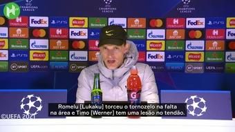 Tuchel fala sobre lesões de Lukaku e Werner. DUGOUT