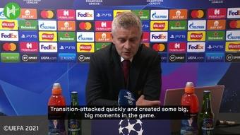 Ole Gunnar Solskjaer was delighted after Man Utd defeated Villarreal. DUGOUT