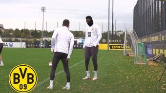 Dortmund have been preparing for the Bundesliga clash at Arminia Bielefeld. DUGOUT