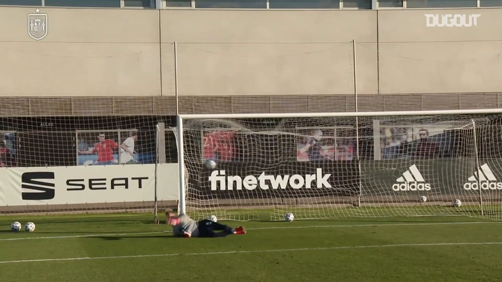 Spain U21s are preparing for Monday's quarter-final with Croatia. DUGOUT