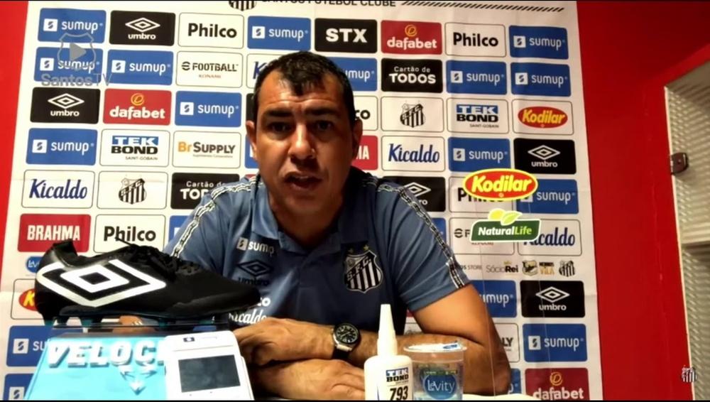 Carille elogia torcida do Santos. DUGOUT