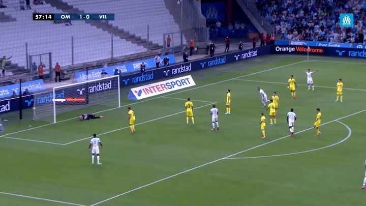 El gol de Payet con el exterior ante el Villarreal. Captura/DUGOUT