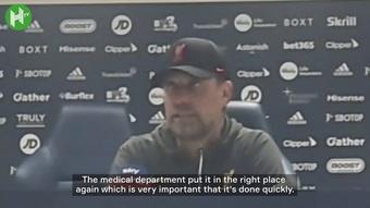Jurgen Klopp speaks on Elliot's ankle injury. DUGOUT