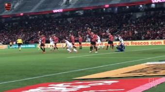 Thiago Maia marca para o Flamengo na Arena da Baixada. DUGOUT