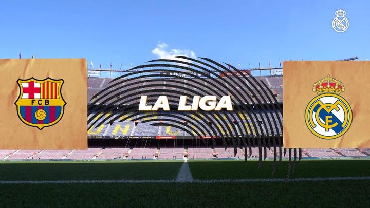 Bastidores da vitória do Real Madrid sobre o Barça no Camp Nou. DUGOUT