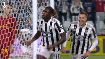 Il gol di Kean che ha steso la Roma. Dugout