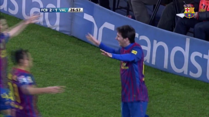 Lionel Messi got on the scoresheet four times! DUGOUT